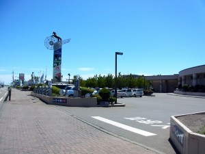 道の駅駐車場入り口